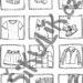 Omalovánkové pexeso Oblečení