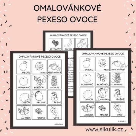 Omalovánkové pexeso OVOCE