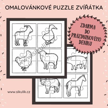 Puzzle zvířátka ze statku