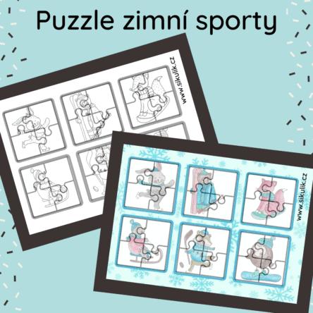 Puzzle zimní sporty