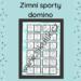Omalovánkové domino zimní sporty